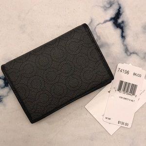 New Coach Men Compact Mini Wallet Grey